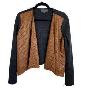 sunday in brooklyn faux leather waterfall cardigan